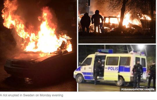 Ve Švédsku nastal chaos. Policisté střílí ostrými náboji. Ve Stockholmu se odehrávají dramatické scény