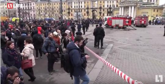 Přímý přenos z Petrohradu po výbuchu v Metru