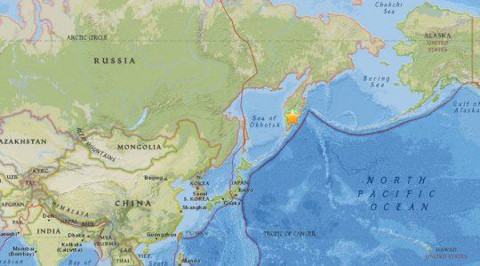 Zemětřesení o síle 7.8 zasáhlo ruskou Kamčatku – USGS