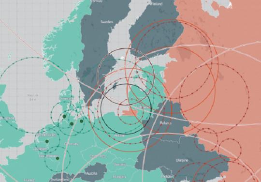 Podívejte se na přehlednou mapu dosahu raketových systému NATO a Ruska v Evropě