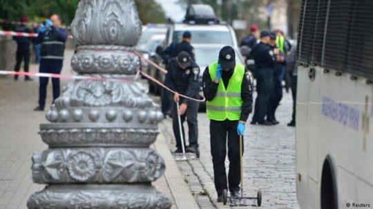 Na Ukrajině v Den nezávislosti explodoval záhadný předmět