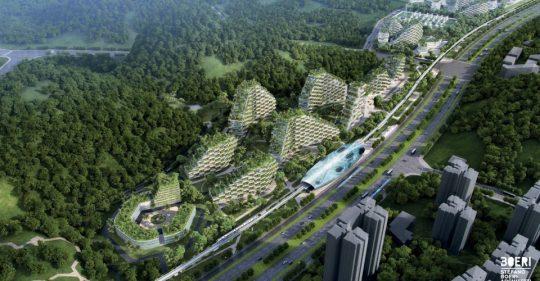 """Na jihu Číny vyroste """"lesní město."""" Jde o velkolepý projekt"""