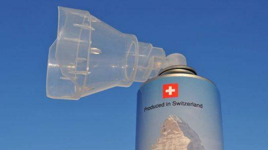 Švýcarsko se chystá prodávat čerstvý vzduch v lahvích