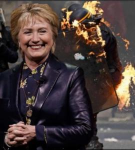 Hillary Clinton věnovala  milion dolarů z peněz na její kampaň Antifě