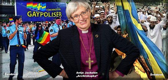 """Švédská """"arcibiskupka"""": Mohamed inspiruje. Genderově neutrální Bůh a nekorektní Kristus. Švédská národní církev na inkluzivním dně"""