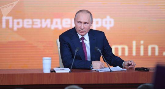 Velká tisková konference Vladimira Putina. Video