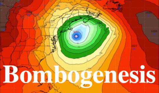 """Nový meteorologický termín """"bombogenese"""" je zástěrkou pro klimatické zbraně"""