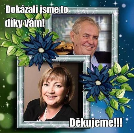 Pozdrav od manželů Zemanových