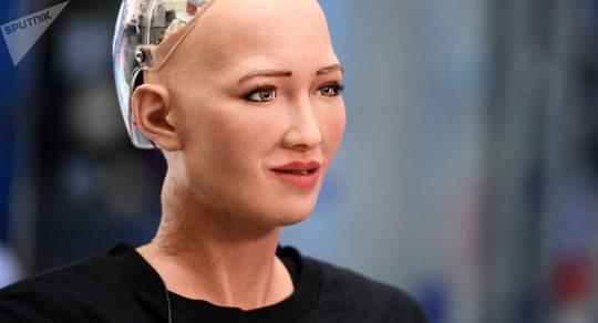 Robot Sofia se po otázce o korupci na Ukrajině porouchal