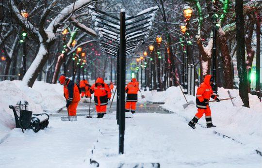 Z ulic Moskvy bylo za posledních 24 hodin odstraněno 800 000 kubíků sněhu