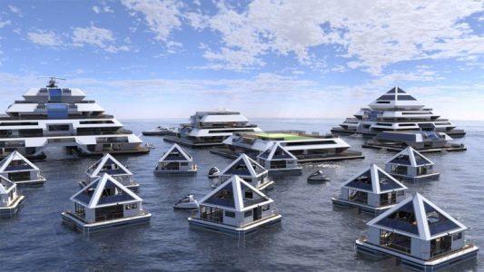 Další futuristický projekt: Plovoucí pyramidová města by měla být zcela soběstačná