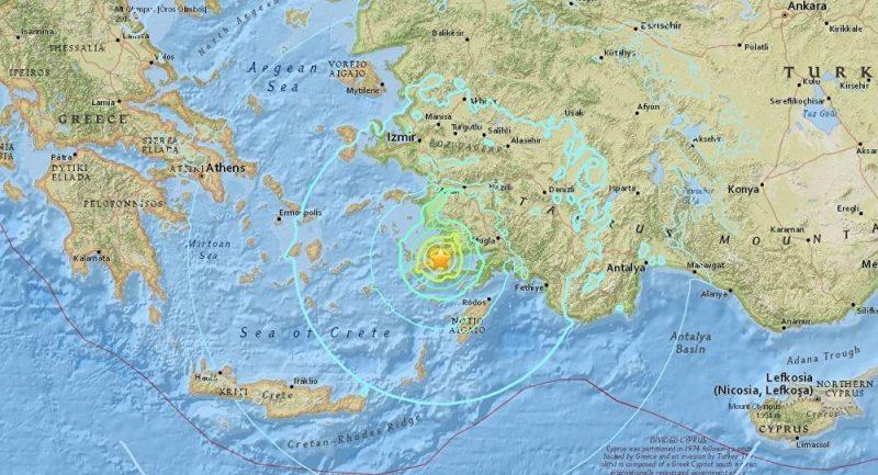 Řecké pobřeží zasáhlo zemětřesení o síle 5.5 stupně