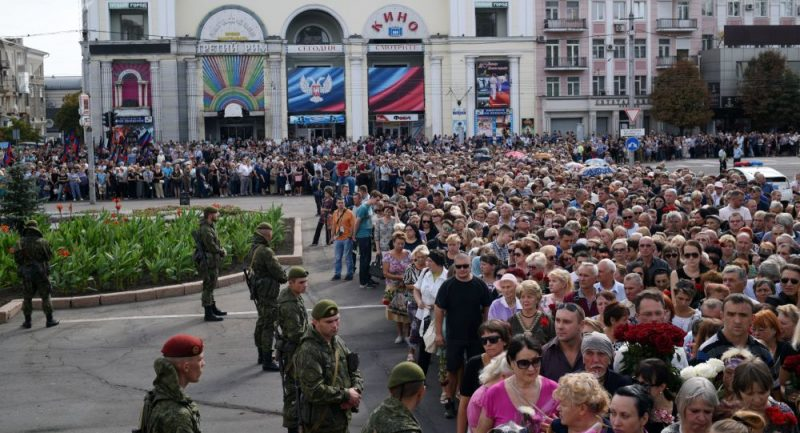 Média: Pochodu na památku Zacharčenka v Doněcku se účastní na 200 tisíc lidí