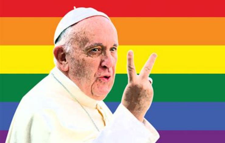 Duhový papež. Propaganda LGBT jede