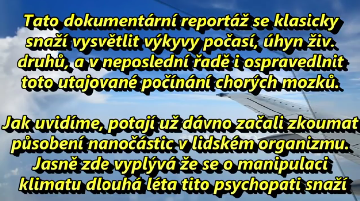 V České televizi se otevřeně přiznali k chemtrails!
