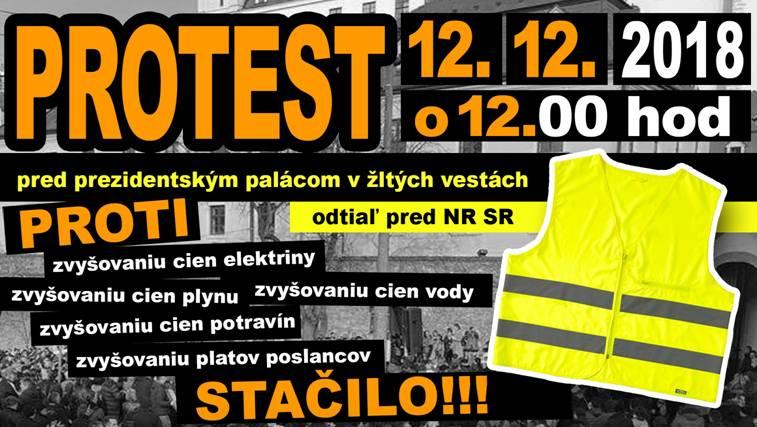PROTEST 12.12. 2018 o 12:00 hodin. MÁTE POSLEDNÍ MOŽNOST. KAPITO ?????