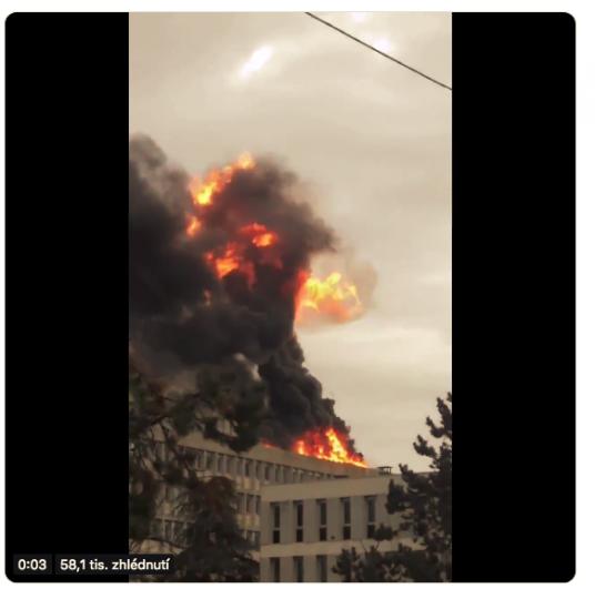 Pravděpodobně ohromná exploze plynu otřásla univerzitou v Lyonu v jižní Francii