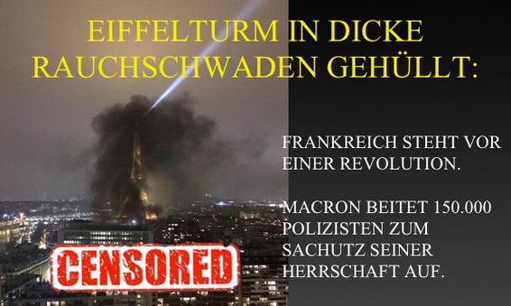 Zprávy o Francii jsou cenzurovány. MAKRON povolal 150.000 policistů o silvestrovské noci