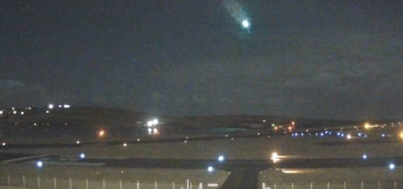Jasný meteor zazářil nad Shetlandskými ostrovy