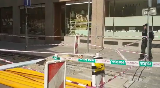 Výbuch v centru Bratislavy. Muselo být evakuováno několik budov
