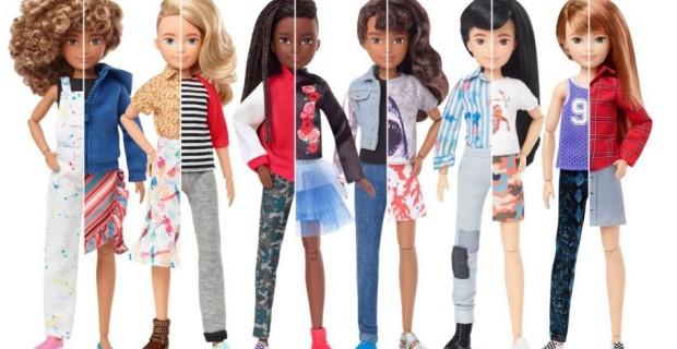 """Výrobce hraček Mattel začal vyrábět novou řadu panenek – """"genderově neutrálních"""""""