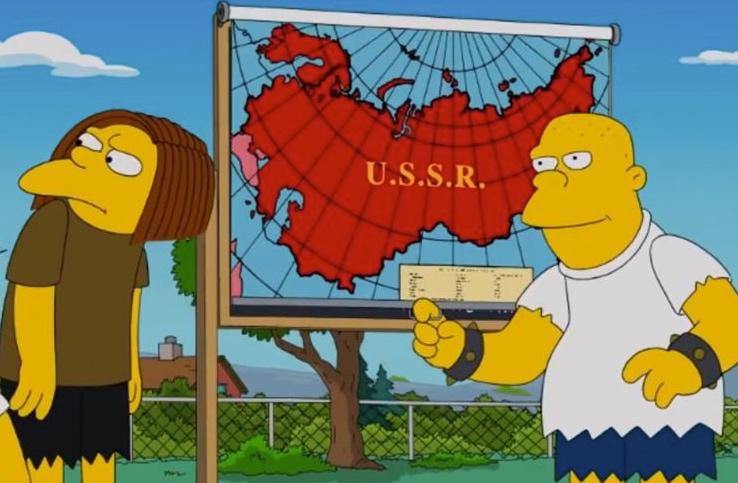 Obnova SSSR byla předpovězena v seriálu Simpsonovi