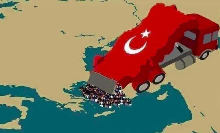 Turečtí vojáci napadli a okupují část řeckého území, vyvěsili vlajku a rozdělávají tábor podél sporné hranice