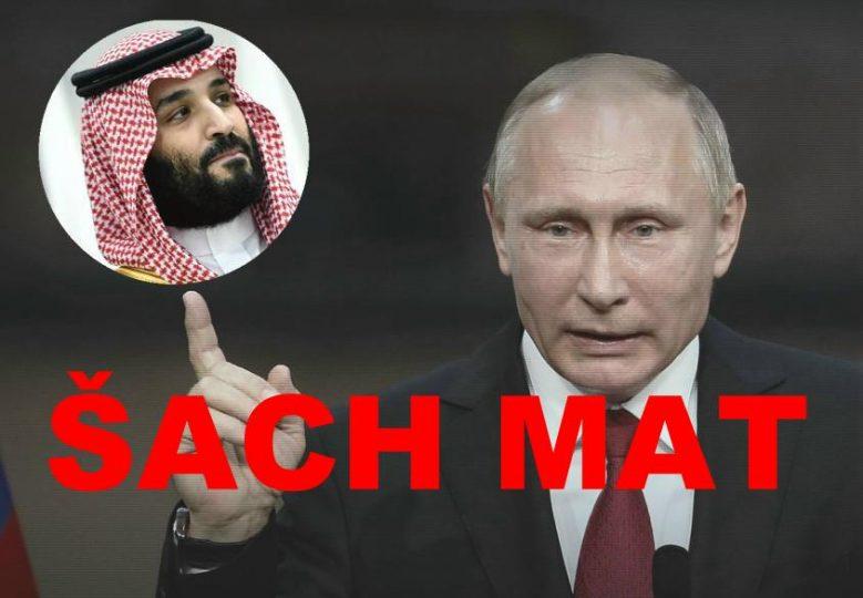 Už Saudové Putinovi zobou z ruky. Drsné probuzení ze sna