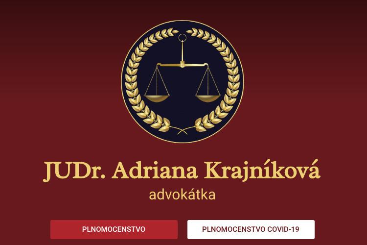 JUDr. Adriana Krajníková spustila nový web